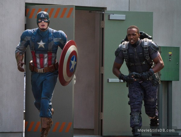 Captain America: The Winter Soldier - Publicity still of Chris Evans & Anthony Mackie