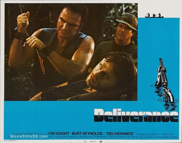 Deliverance - Lobby card with Burt Reynolds, Ned Beatty & Bill McKinney