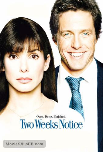 Two Weeks Notice - Promotional art with Sandra Bullock & Hugh Grant