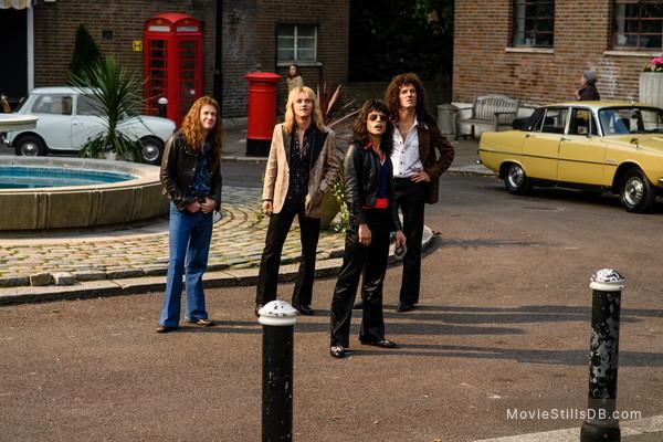 Bohemian Rhapsody - Publicity still of Joseph Mazzello, Rami Malek, Gwilym Lee & Ben Hardy