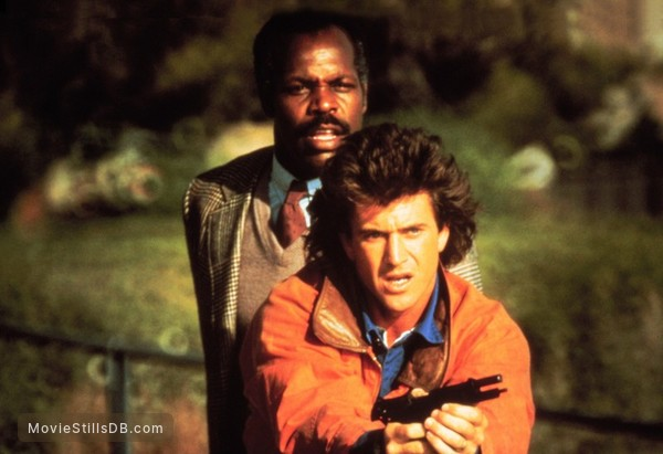 Lethal Weapon - Publicity still of Mel Gibson & Danny Glover