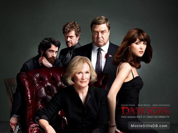Damages - Wallpaper with Rose Byrne, John Goodman, Dylan Baker, Glenn Close & Chris Messina