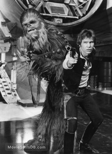 Star Wars - Publicity still of Harrison Ford & Peter Mayhew