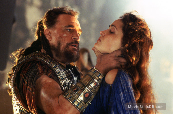 Troy - Publicity still of Brian Cox & Rose Byrne