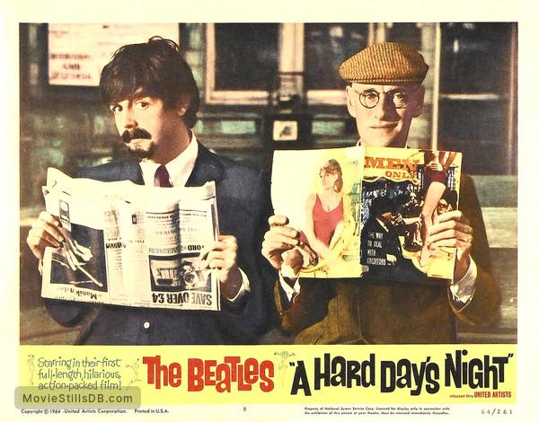 A Hard Day's Night - Lobby card with Paul McCartney & Wilfrid Brambell