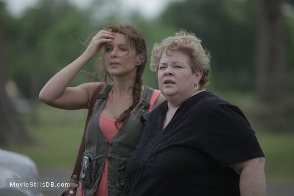 Alien Tornado - Publicity still of Kari Wuhrer & Claire Conti
