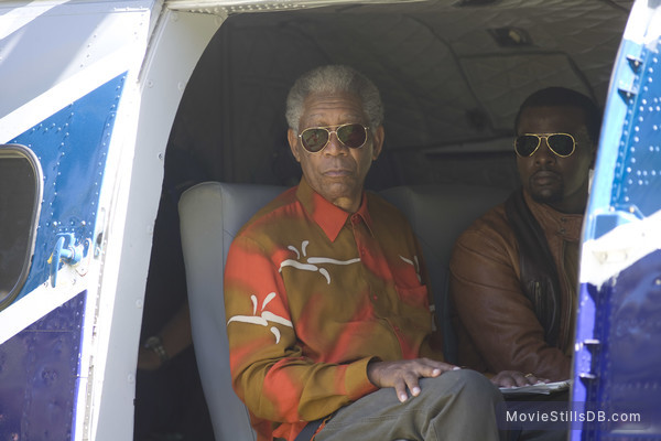 Invictus - Publicity still of Morgan Freeman & Tony Kgoroge