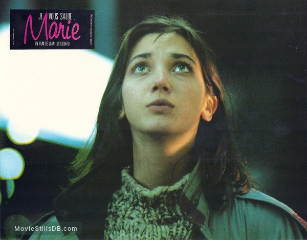 'Je vous salue, Marie' - Lobby card with Myriem Roussel