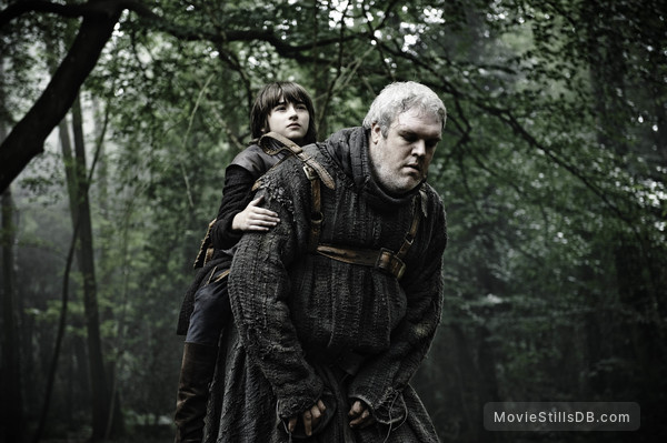 Game of Thrones - Publicity still of Isaac Hempstead-Wright & Kristian Nairn