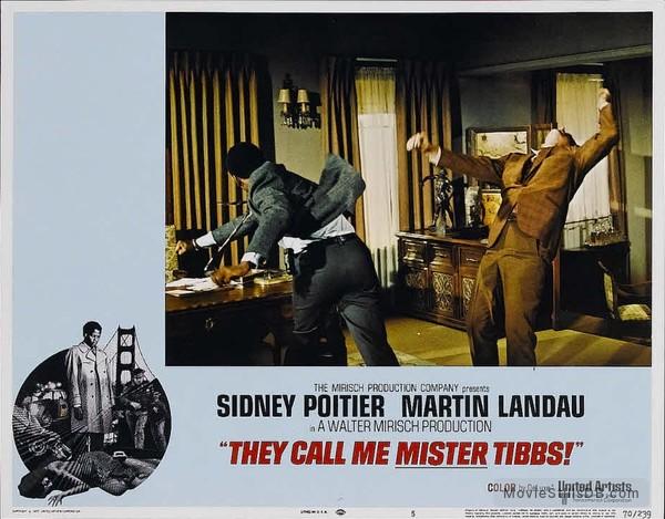 They Call Me MISTER Tibbs! - Lobby card with Sidney Poitier & Martin Landau