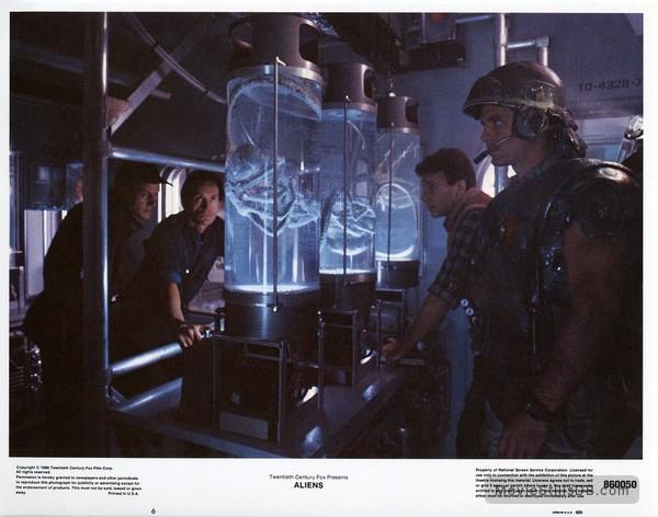 Aliens - Lobby card with Michael Biehn, Lance Henriksen, Paul Reiser & William Hope