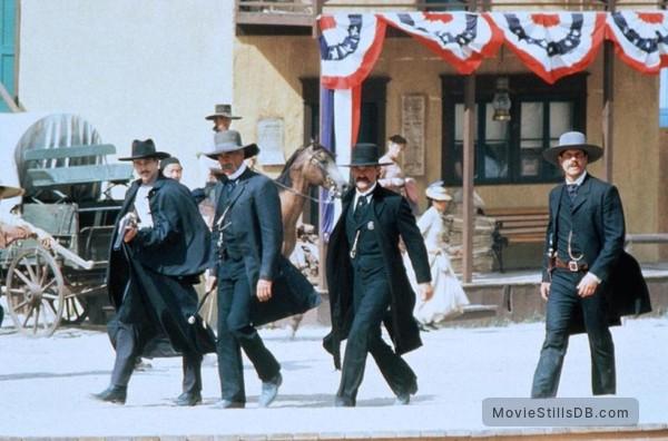 Tombstone - Publicity still of Val Kilmer, Sam Elliott, Kurt Russell & Bill Paxton