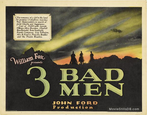 3 Bad Men - Lobby card