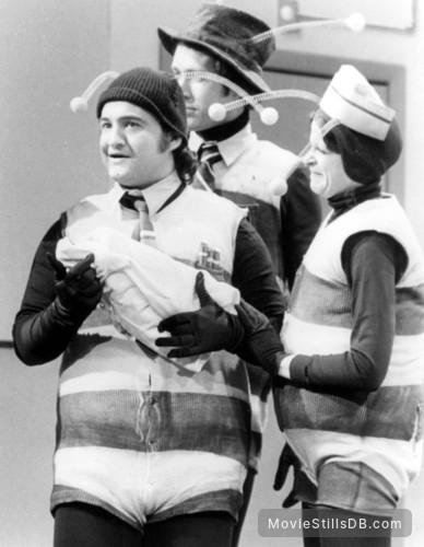 Saturday Night Live - Publicity still of John Belushi, Chevy Chase & Gilda Radner