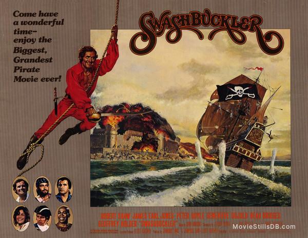 Swashbuckler - Lobby card with Geneviève Bujold, Robert Shaw, James Earl Jones, Peter Boyle, Beau Bridges & Geoffrey Holder