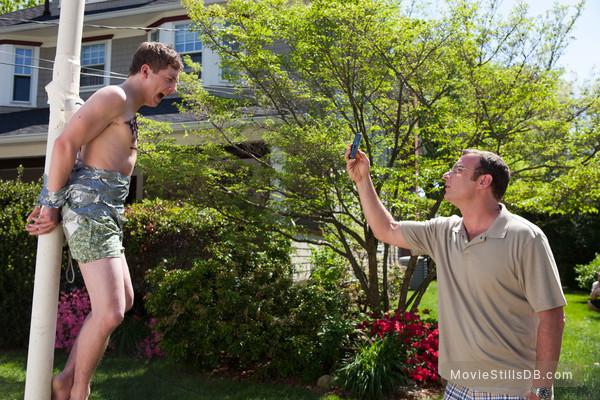 Movie 43 - Publicity still of Liev Schreiber & Jeremy Allen White