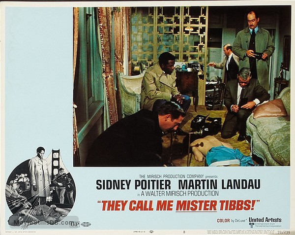They Call Me MISTER Tibbs! - Lobby card with Sidney Poitier