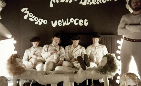 A Clockwork Orange - Publicity still of Michael Tarn, Warren Clarke, Malcolm McDowell & James Marcus