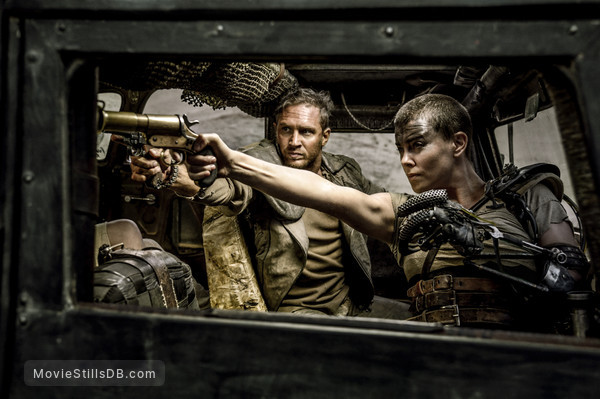 Mad Max: Fury Road - Publicity still of Charlize Theron & Tom Hardy