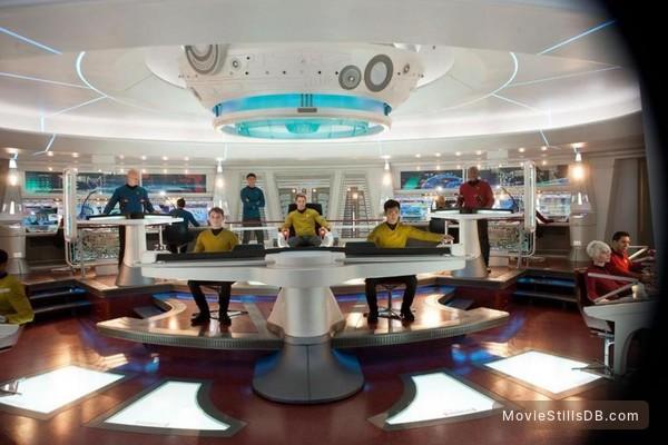 Star Trek: Into Darkness - Publicity still of Anton Yelchin, Karl Urban, John Cho & Chris Pine