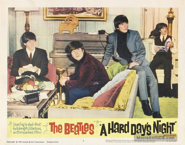 A Hard Day's Night - Lobby card with Paul McCartney, John Lennon, George Harrison & Ringo Starr