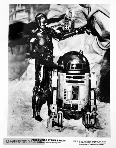 Star Wars Episode V The Empire Strikes Back Publicity Still Of Anthony Daniels Kenny Baker