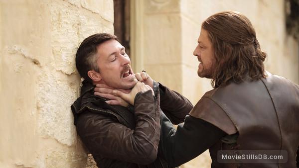 Game of Thrones - Publicity still of Sean Bean & Aidan Gillen