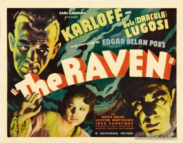 The Raven - Lobby card with Boris Karloff, Bela Lugosi & Irene Ware