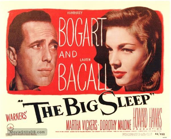 The Big Sleep - Lobby card with Humphrey Bogart & Lauren Bacall