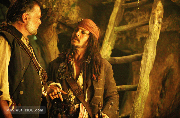 Pirates of the Caribbean: Dead Man's Chest - Publicity still of Johnny Depp & Kevin McNally