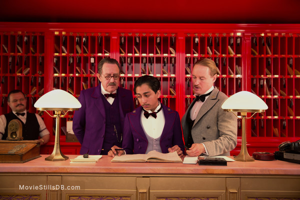 The Grand Budapest Hotel - Publicity still of Owen Wilson & Tony Revolori