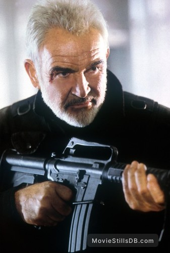 The Rock Publicity Still Of Sean Connery