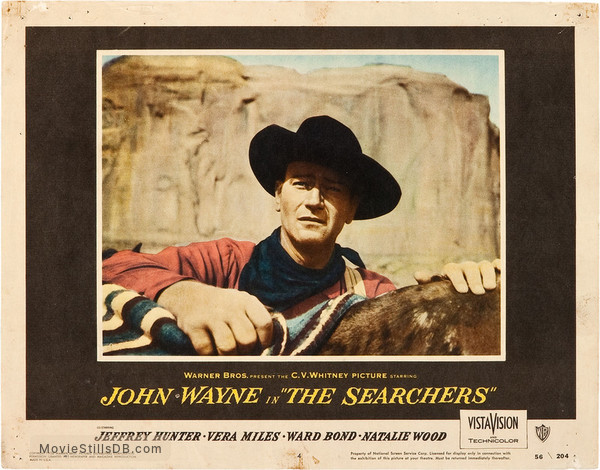 The Searchers - Lobby card with John Wayne