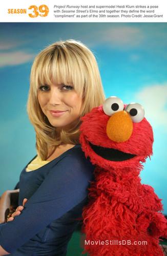 Sesame Street - Publicity still of Heidi Klum