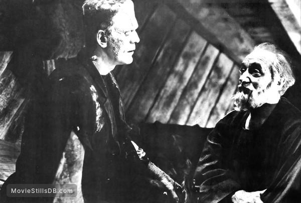 Bride of Frankenstein - Publicity still of Boris Karloff & O.P. Heggie