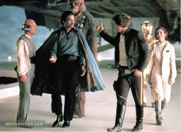 Star Wars: Episode V - The Empire Strikes Back - Publicity still of Harrison Ford, Carrie Fisher, Billy Dee Williams, Peter Mayhew, John Hollis & Anthony Daniels