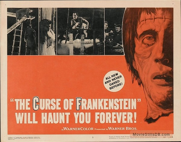 The Curse of Frankenstein - Lobby card