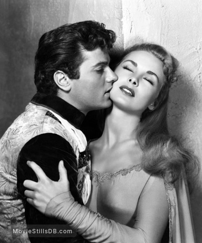 The Black Shield of Falworth - Publicity still of Tony Curtis & Janet Leigh