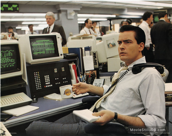 Wall Street - Lobby card with Charlie Sheen