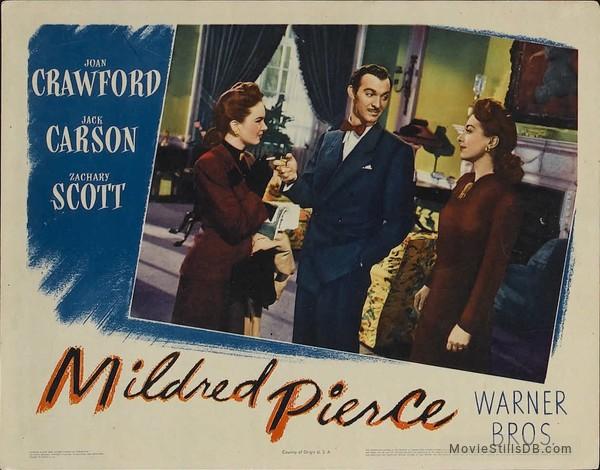 Mildred Pierce - Lobby card with Joan Crawford, Ann Blyth & Zachary Scott
