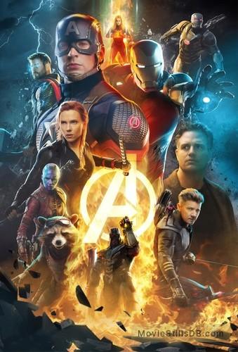 Avengers: Endgame - Promotional art with Chris Evans, Mark Ruffalo, Scarlett Johansson, Jeremy Renner, Chris Hemsworth, Karen Gillan & Brie Larson