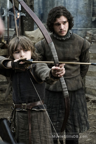 Game of Thrones - Publicity still of Kit Harington & Isaac Hempstead-Wright