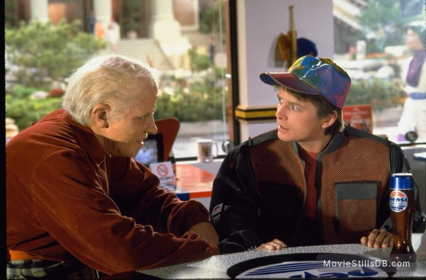 Back to the Future Part II - Publicity still of Michael J. Fox & Thomas F. Wilson