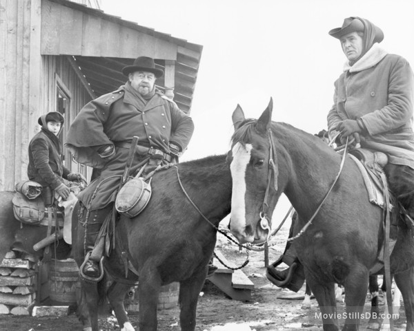 Day of the Outlaw - Publicity still of David Nelson, Burl Ives & Robert Ryan