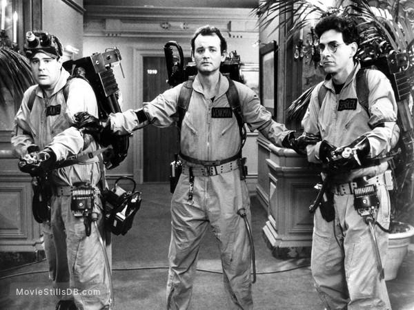 Ghost Busters - Publicity still of Dan Aykroyd, Bill Murray & Harold Ramis