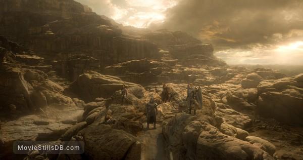 X-Men: Apocalypse - Publicity still of Oscar Isaac, Alexandra Shipp, Olivia Munn, Ben Hardy & Michael Fassbender