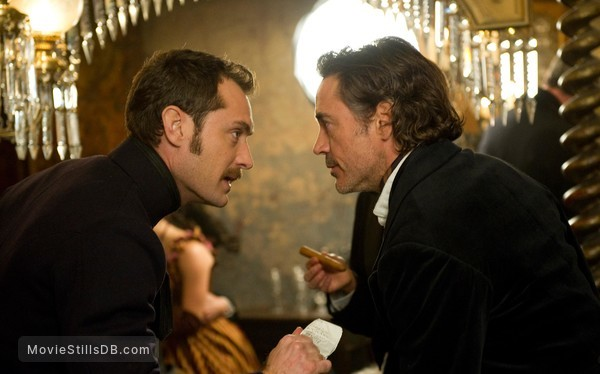 Sherlock Holmes: A Game of Shadows - Publicity still of Robert Downey Jr. & Jude Law
