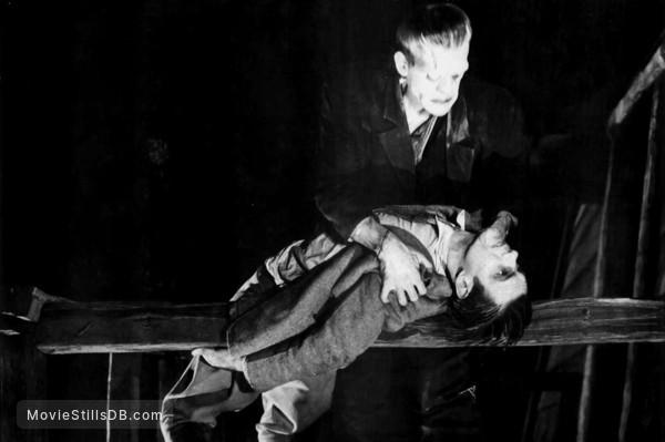 Frankenstein - Publicity still of Boris Karloff & Colin Clive