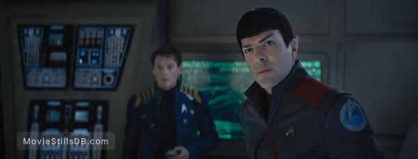 Star Trek Beyond - Publicity still of Zachary Quinto & Anton Yelchin