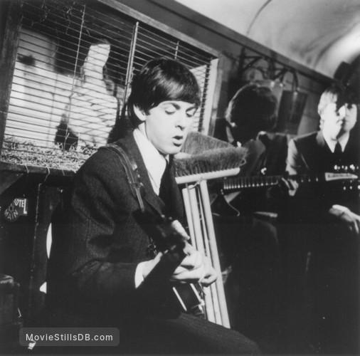 A Hard Day's Night - Publicity still of John Lennon, Paul McCartney & George Harrison